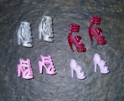 BARBIE DOLL SHOES g26 - 4 PAIRS of ASSORTED MODERN SANDALS