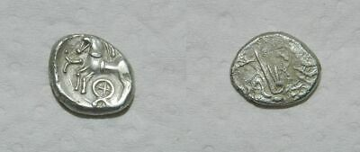 Ancient Celtic Silver -  Central Gaul - The Aedui / Lingones - Quinarius Vf