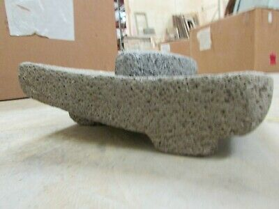 Antique Metate #27-Grinder-Rustic-Complete-Old Mexican--Primitive-11x14x5