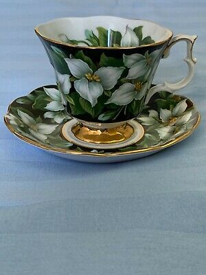 Royal Albert Provincial flowers Trillium Ontario  tea cup and saucer