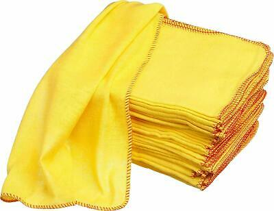 15 Pack of Heavy Duty Yellow Dusting Dusters / Cleaning Cloths