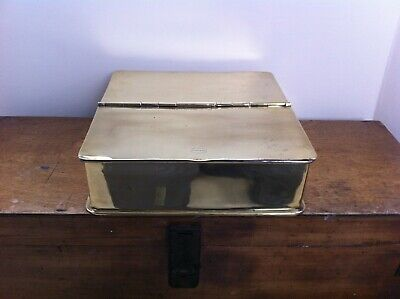 SUPERB LARGE 19th CENTURY TEMPLE & CROOK COUNTRY HOUSE BRASS SPICE BOX 11 inch