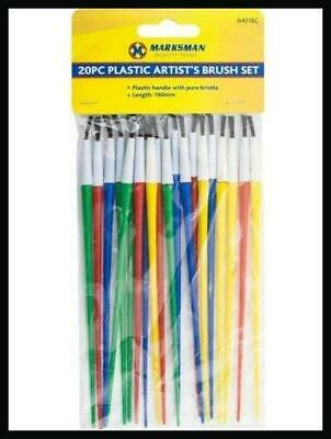 20 Kids Paint Brushes Brush Craft Art Paintbrushes Childrens Painting Creative A