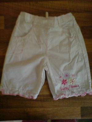 BHS Kids Girls Pink & White Trousers Age 3-6 Months