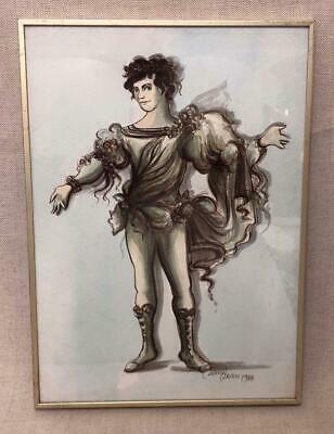 Stunning Framed Costume Design by David Dean 1984 - ROH, Ballet, Theatre, Opera