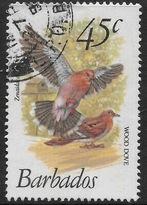 "Barbados 1979 45c. Birds ""Zenaida Dove"" SG632  Fine Used"
