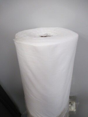 100m x 20cm FUSIBLE IRON ON STABILISER INTERLINING EMBROIDERY LIGHT WEIGHT WHITE