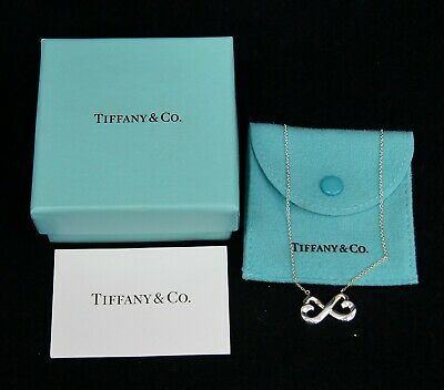3f543ec4b TIFFANY & CO Paloma Picasso Double Loving Heart Sterling Silver Necklace &  Box
