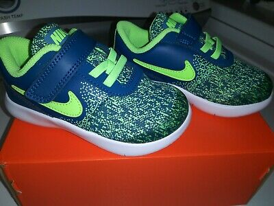 2ec846ad17 Boys Nike Flex Contact Sneakers Size 8C Color Blue Force/Lime Blast Child  NIB