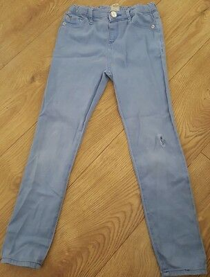 river island girls jeans age 8. ripped knee