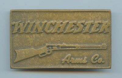 **WINCHESTER** ARMS - Vintage SOLID BRONZE BUCKLE - Definitely Old School