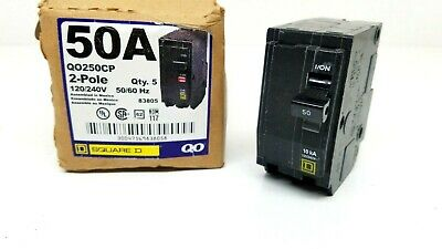 QTY 1 Square D by Schneider Electric QO250CP QO 50 Amp Two-Pole Circuit Breaker