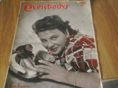 1948 Everybody's Magazine With  Actress Jean Simmons On Cover & Inside
