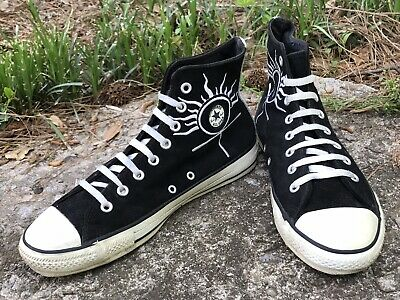 7fd5ab8d2e1754 CONVERSE Vintage Black Suede Chuck Taylor All Star Shoes Size 8.5 Made in  USA