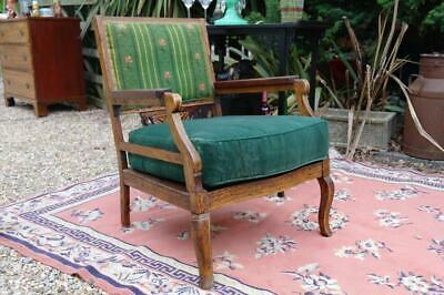 Antique 19thC French Bergere Armchair Inlaid Marquetry Quirky Chair Rustic Chic