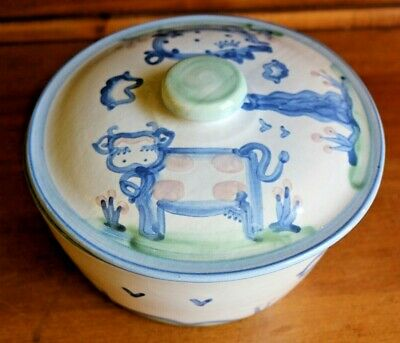 M.a. Hadley Covered Casserole Serving Dish Cow And Pig Nice
