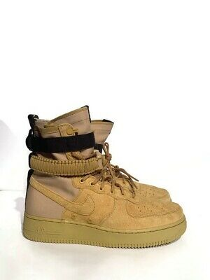 online store 54dc9 e5734 NEW Sz 11 Nike SF AF1 Air Force 1 Men s Boot Wheat Club Gold Black 864024
