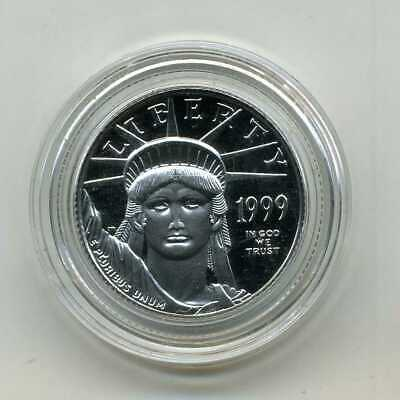 1999 $25 Proof Platinum American Eagle 1/4 Oz