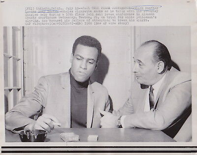 BLACK PANTHER HUEY NEWTON in JAIL CELL CA * Rare VINTAGE 1968 CIVIL RIGHTS photo