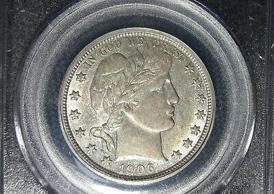1906-S Barber Half Dollar PCGS AU55 CAC Toned tough coin