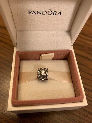 Authentic Pandora Sterling Silver Radiant Bloom Crystal CZ Charm 791762CZ