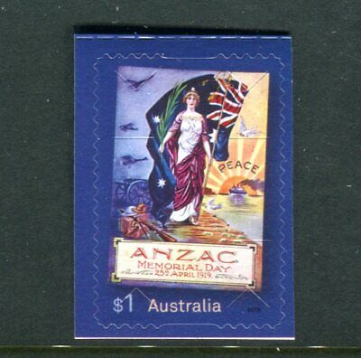 2019 ANZAC Day - MUH $1 Booklet Stamp