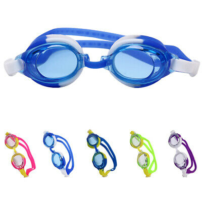 Colorful Adjustable Kids Childrens Swimming Goggles Waterproof Silicone Hd Anti-fog Transparent Swimming Glasses With Earplugs Activity & Gear Accessories