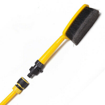 1PC Water Fed Car Wash Cleaning Soft Brush Attach To Hose Pipe with Control Tap