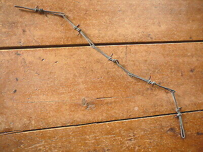 Cadys Wrap & One-Half Two Point Galvanized Link Wire - Antique Barbed Barb  Wire