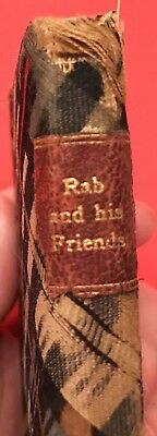 Antique Miniature Book Rab And His Friends Cloth Cover Leather Bound Illustrated