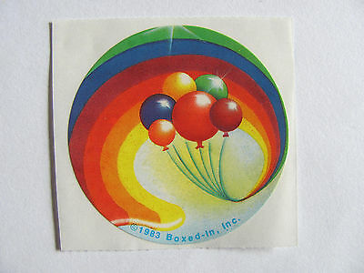 Rare Vintage Boxed In Rainbow Balloons Sticker