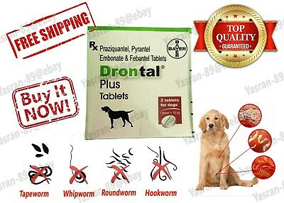 Drontal Plus Original Bayer's Worm Treatment tablets for Dogs Best Deal!