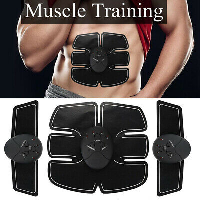 4 In 1 Abdominal Muscle Trainer USB Rechargable Fitness Stimulator ABS Toner LOT