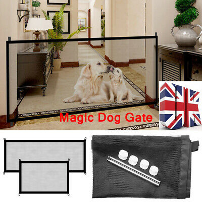 Retractable Pet Dog Gate Safety Guard Folding Baby Toddler Stair Gate Isolation✔