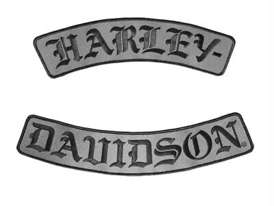 "Harley-Davidson® Embroidered H-D Script Rocker Emblem Patch (12""x2.5"") EM022757"