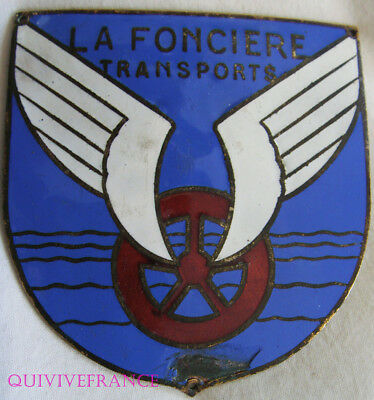 BADGE DE CALANDRE  plaque d'Assurance Automobile LA FONCIERE