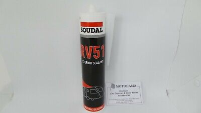 Soudal Rv51 Exterior Sealant & Bonding Adhesive White No Mould Caravan/Motorhome