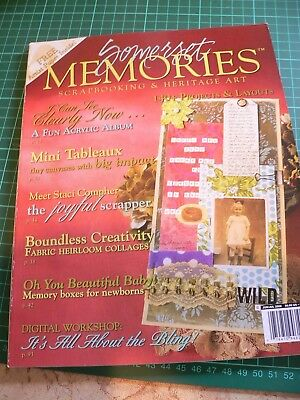 Somerset Memories by stampington and co scrapbooking heritage art vol 7 issue 4