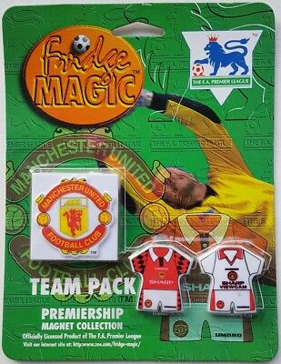 1996 Manchester United Premiership Magnet Collection x 3 Magnets - Brand New