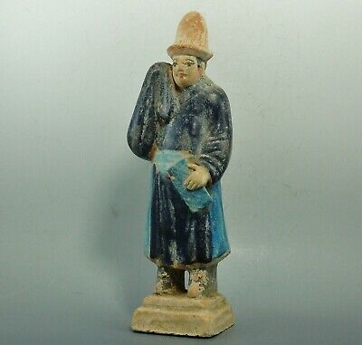 Chinese Ming Dynasty Terracotta Glazed Tomb Attendent Figure (370K)