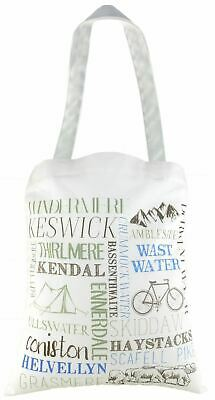 Evans Lichfield Made In Uk Cotton Tote Cloth Shopping Bag Places Lake District