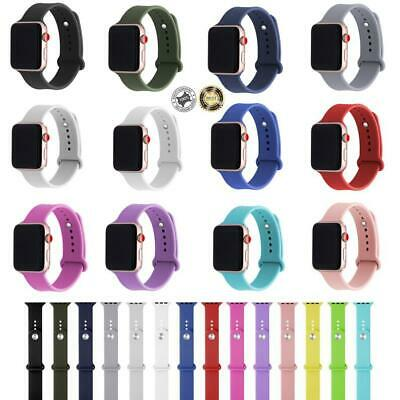 Soft Silicone Replacement Sport Bands for Apple Watch Series 38mm 42mm 40mm 44mm