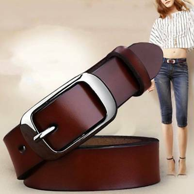 Genuine Cow Leather Pin Buckle All-match  Belt Women's Belts Waistband Girdle