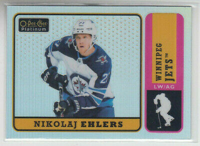 18/19 OPC Platinum Winnipeg Jets Nikolaj Ehlers Retro Rainbow card #R-38