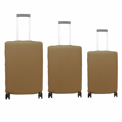 SAFEBET Authorized Luggage Polyester Elastic Anti-scratch Cover Bag Coffee Color