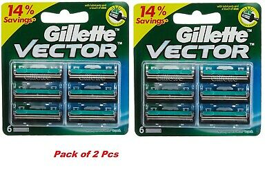 Gillette Vector Razor Blades Cartridge manual shaving blade - 12 cartridges pack