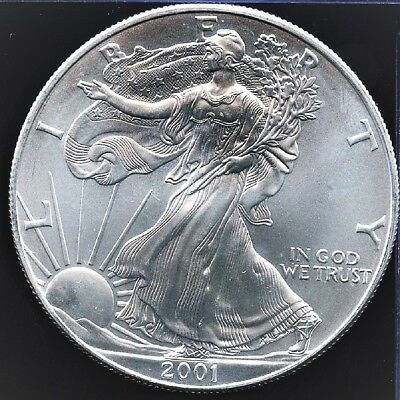 2001 American Silver Eagle BU 1 oz Coin US $1 Dollar Brilliant Uncirculated *001