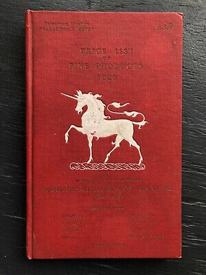 Vintage 1928 Burroughs Wellcome Co Medical Catalog