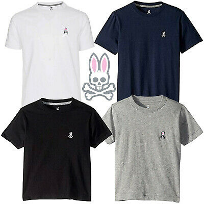 Psycho Bunny Boys Toddler and Big Kids 4T-18/20 Solid Color 100% Cotton T-Shirt