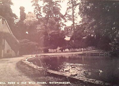 """Mill Pond And Old Mill House, Wateringbury, Kent 7X5"""" Reproduced Print"""